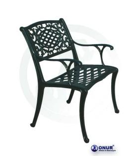 SN-109 Elektrostatik boyalı alüminyum döküm geniş oturumlu dış mekan kollu bahçe sandalyesi