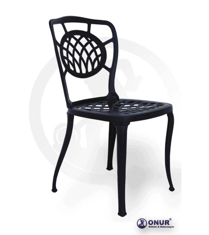 SN-103 Elektrostatik boyalı alüminyum döküm baklava desen motifli dış mekan kolluz bahçe sandalyesi