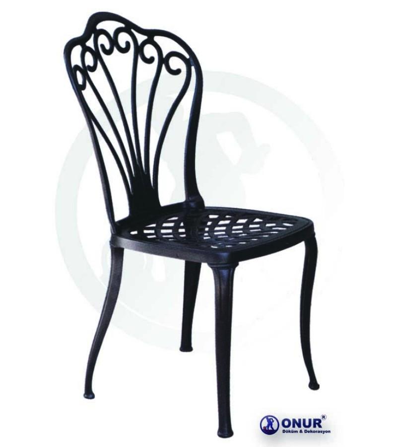 SN-101 Elektrostatik boyalı alüminyum döküm tavus kuşu motifli dış mekan kolsuz bahçe sandalyesi
