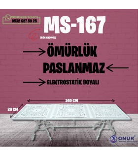 MS-167 80*240cm Alüminyum döküm masa
